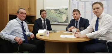 Left to Right – Mark Sesnan (Managing Director), Joseph Rham (Regional Director), Matt Perren (Head of Services), Grant
